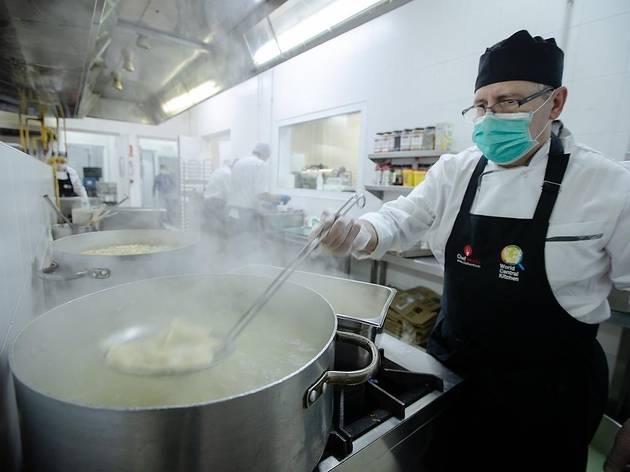 Cocina de World Central Kitchen