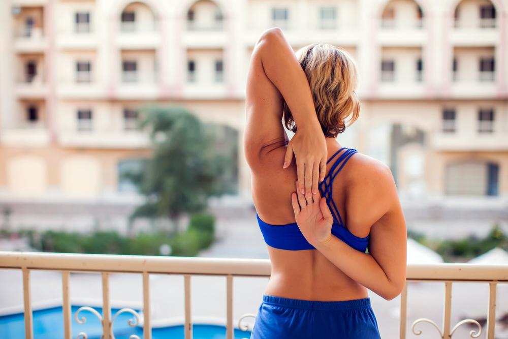 Sesión multitudinaria de fitness en los balcones: el reto viral de la semana