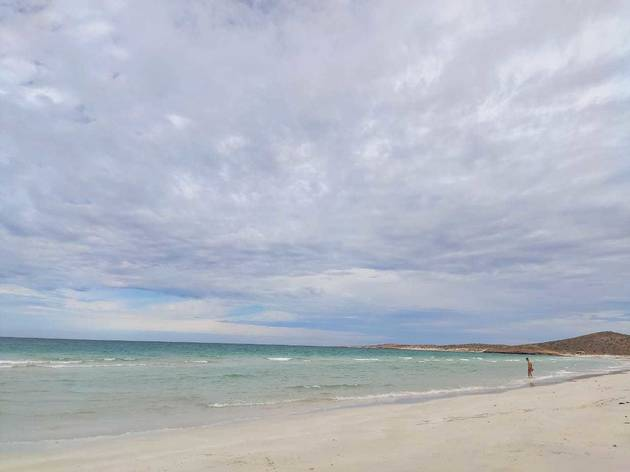 Paisaje de la playa mexicana Tecolote, en La Paz, Baja California Sur
