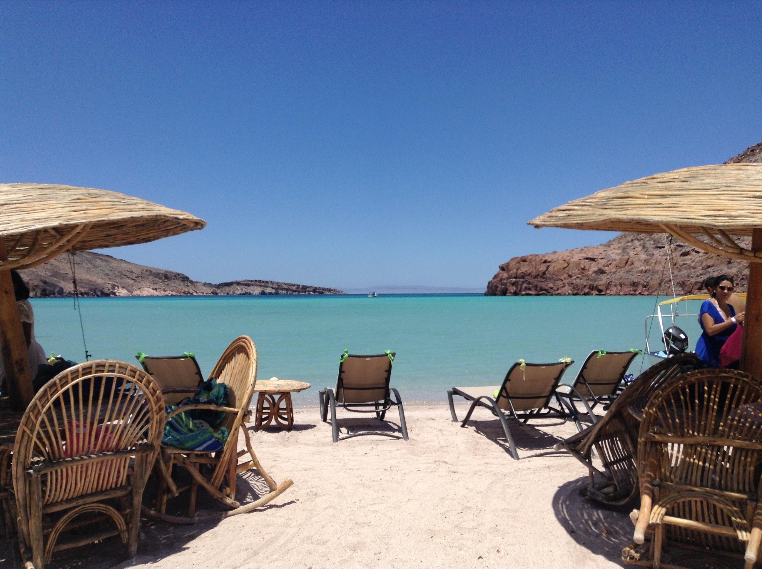 Playa en la Isla Espíritu Santo en La Paz Baja California Sur