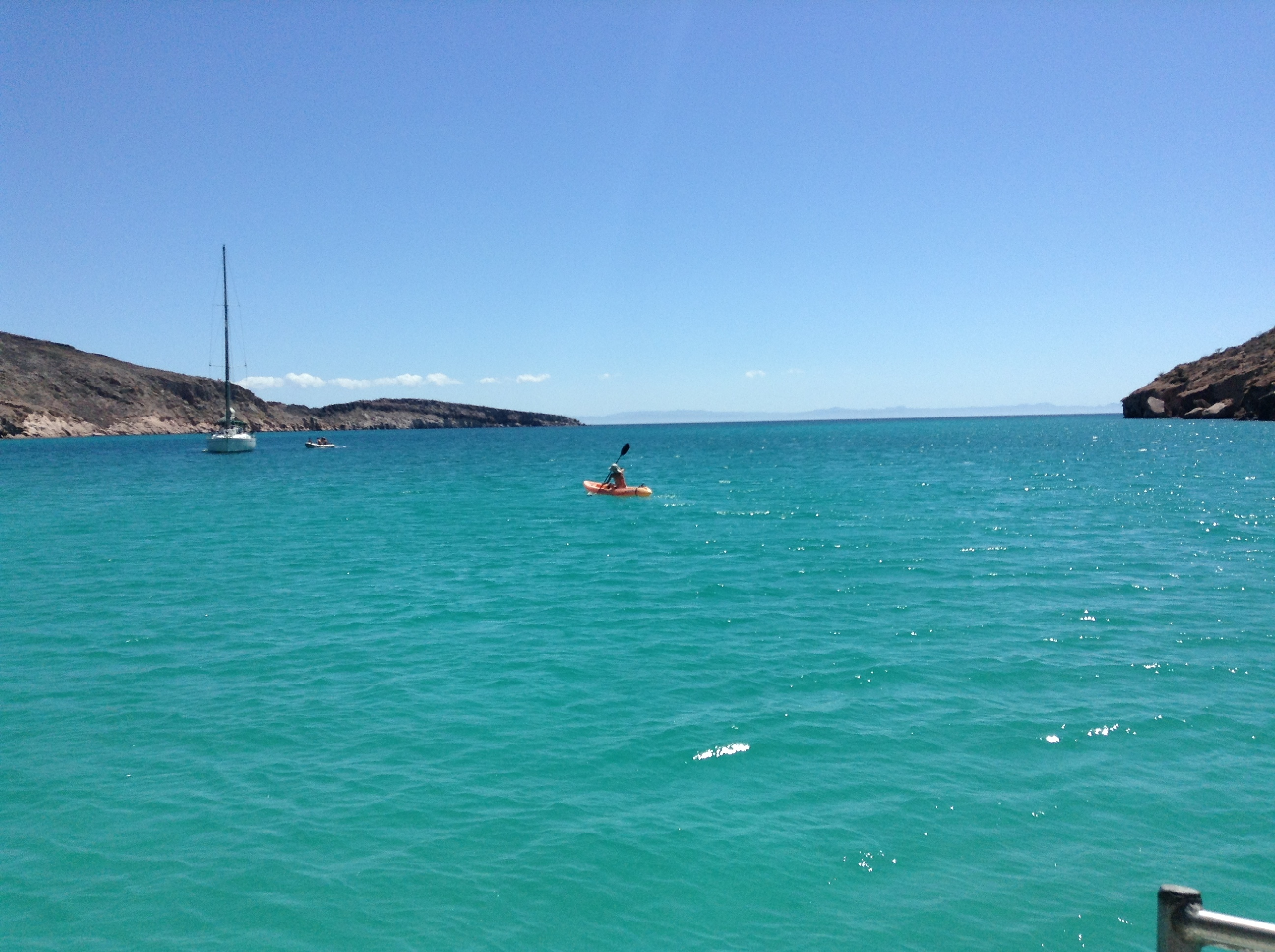 Kayak en la Ilsa Espíritu Santo en Baja California Sur