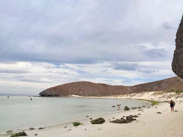 Paisaje de la playa Balandra en Baja California Sur, México