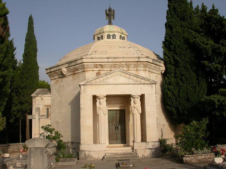Admire a majestic mausoleum