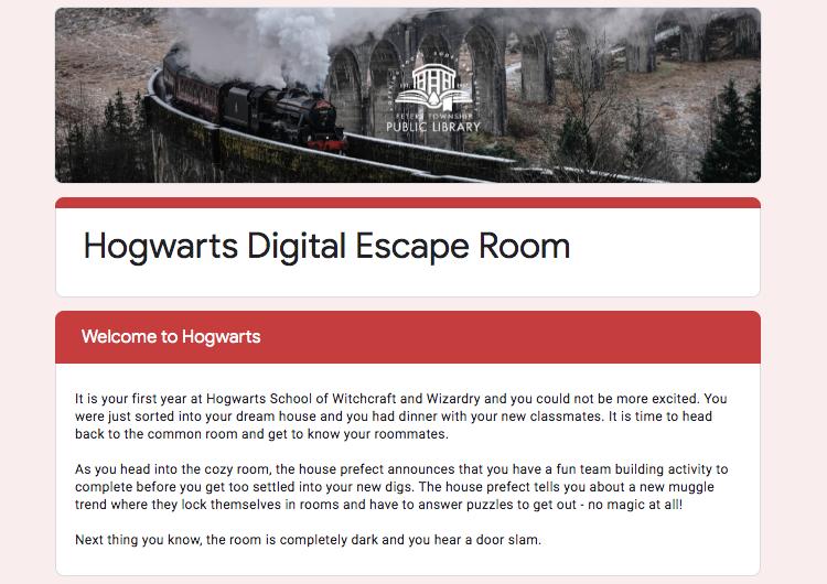 Hogwarts Digital Escape Room
