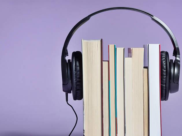 Libros con audifonos