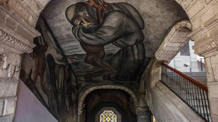 Mural de las escaleras del Museo de SAN ILDEFONSO