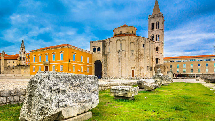 Zadar's Forum, or Green Square, dates back to the 1st century BC Roman era