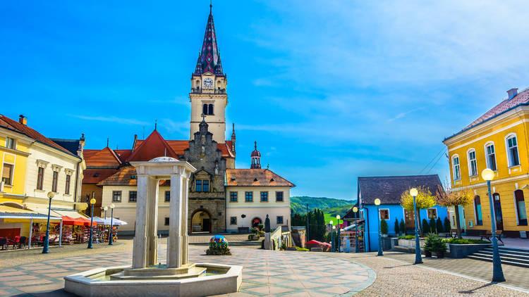 Pope John Paul II Square in Marija Bistrica, a jewel of Croatia's Krapina-Zagorje County