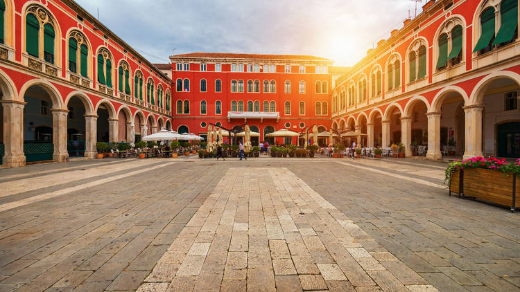 Split's Republic square was built in the 19th century and modeled after Venice