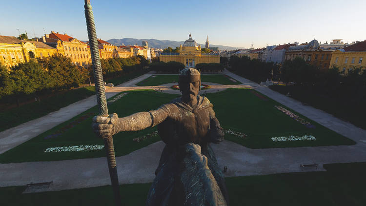 Zagreb's King Tomislav square is spearheaded by a statue of the 10th-century ruler