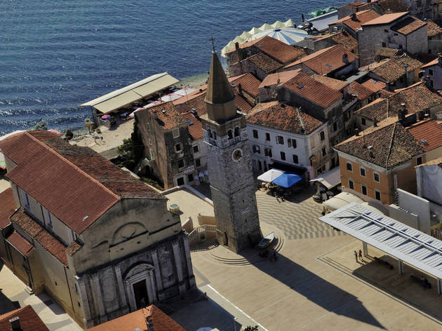 Istrian town of Umag houses its own Freedom square, which features a 17th-century cistern and an Adriatic sea backdrop