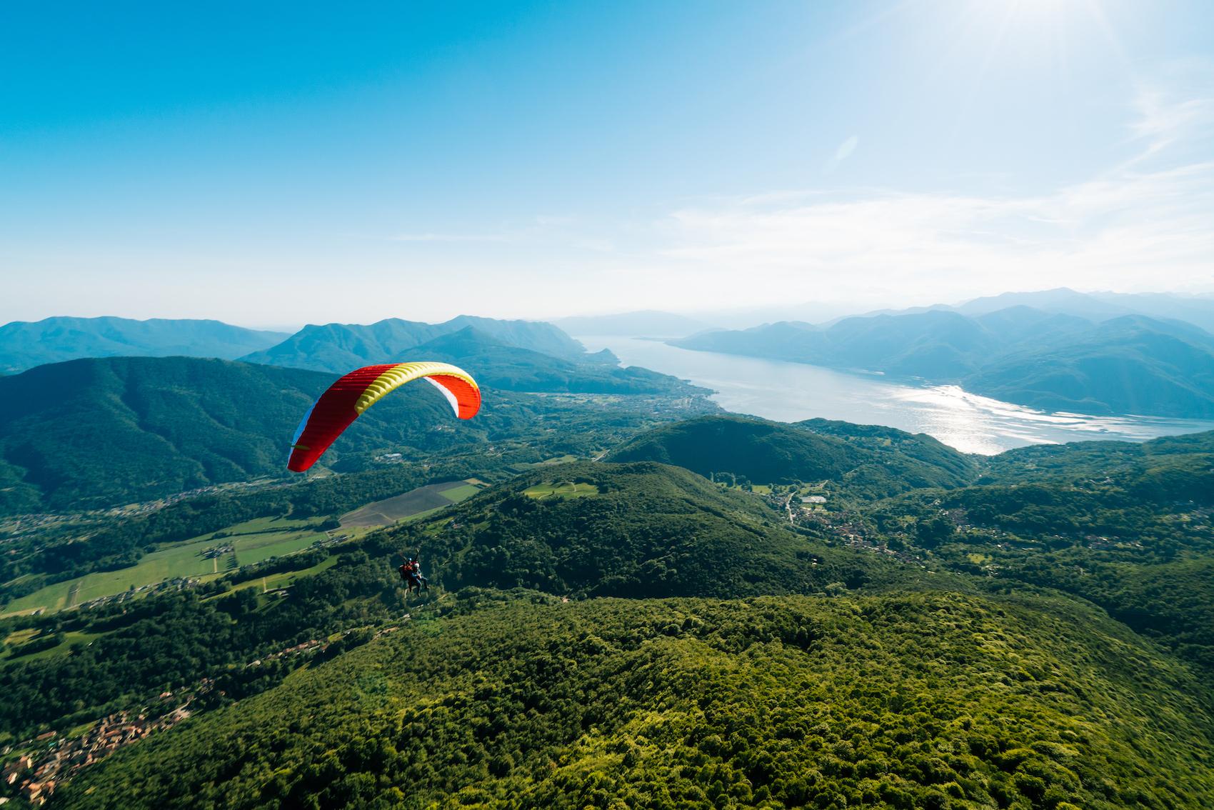 Paragliding, Ticino