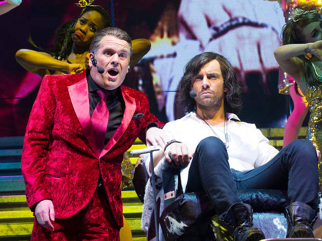 Chris Moyles and Ben Forster in the 2012 production of Jesus Christ Superstar