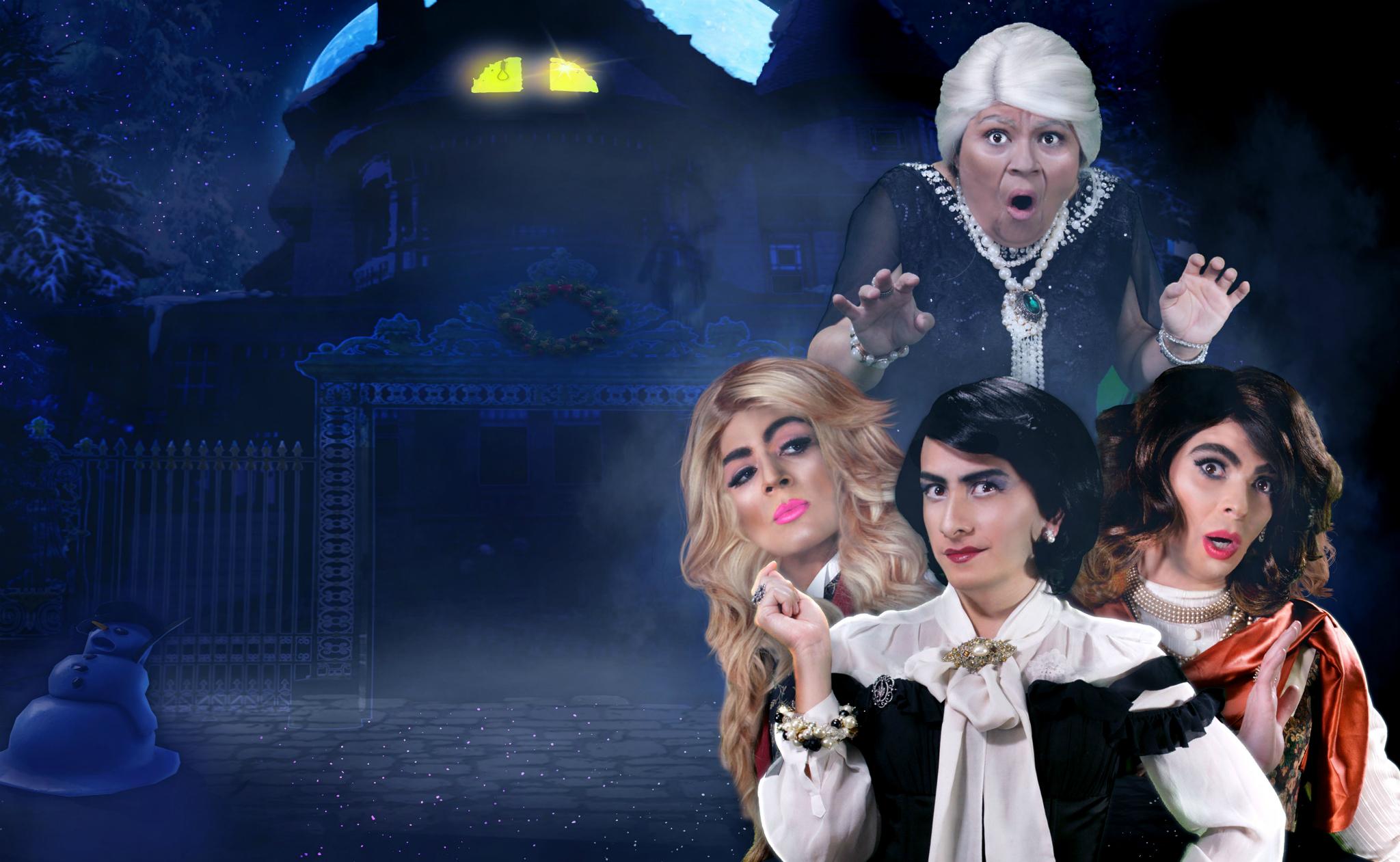Promocional de la obra de teatro Las mamás presentan una noche de Navidad