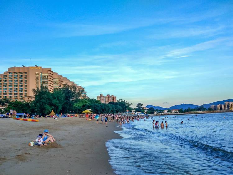 黃金泳灘:屯門最大海灘