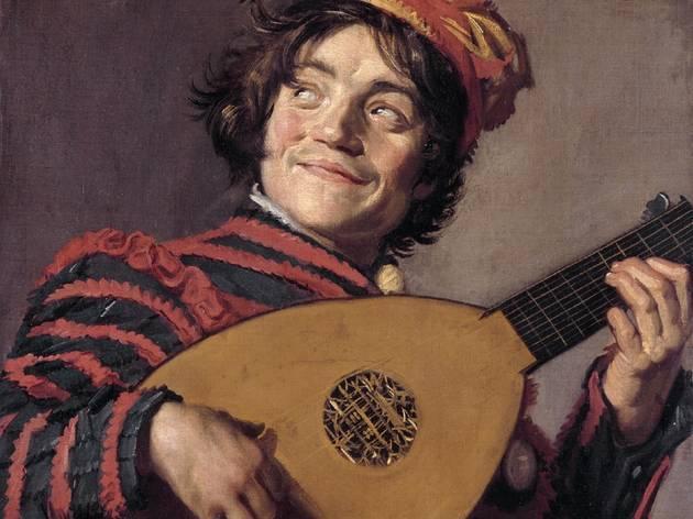 """Arte, Pintura, Retrato, """"O tocador de alaúde"""", por Franz Hals, 1623"""
