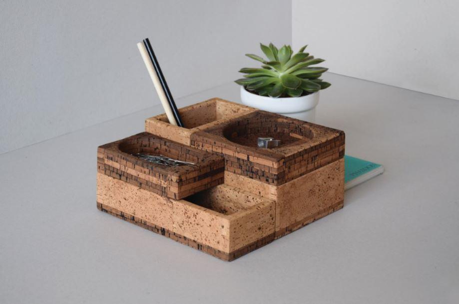 Corkunits, tabuleiro de secretária, escritório, cortiça, decoração, mobiliário