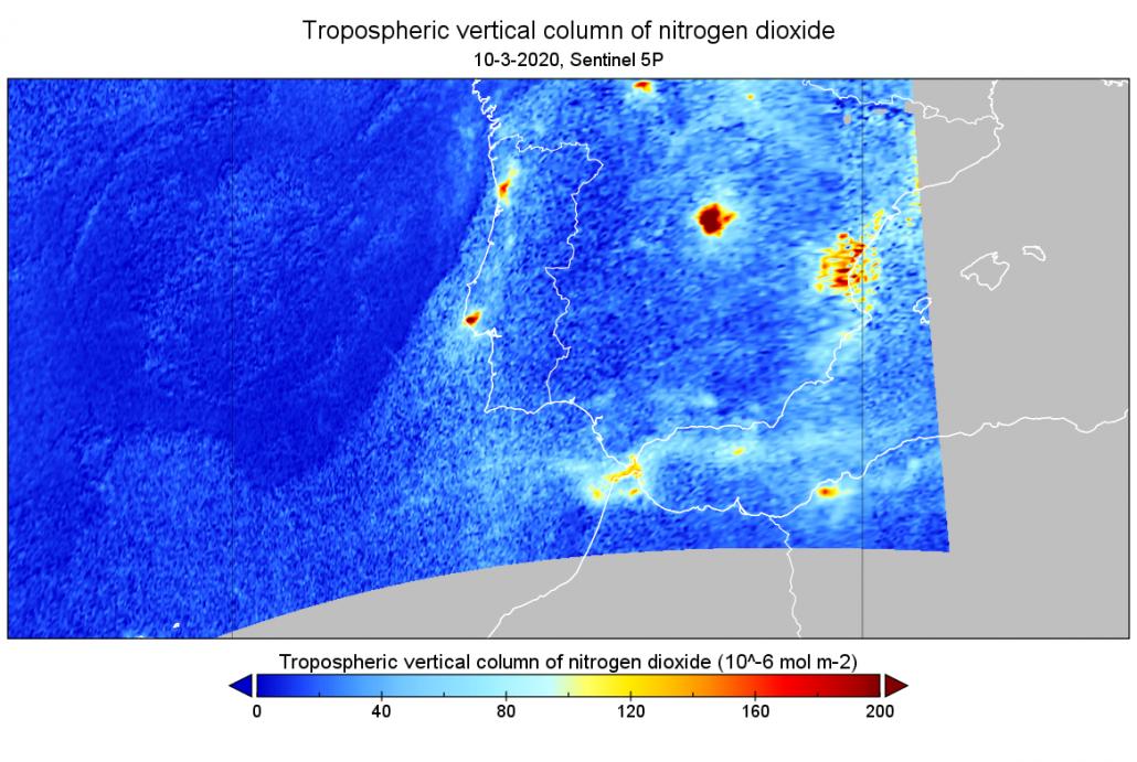 níveis de dióxido de azoto em portugal