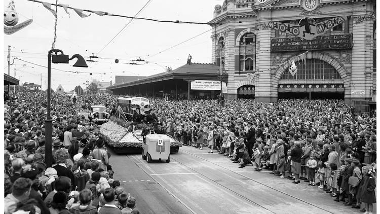 Moomba Festival parade in 1954
