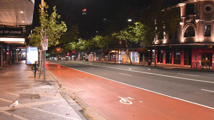 Oxford Street at night during lockdown