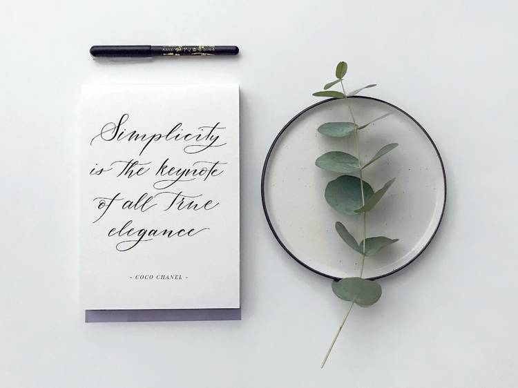 Calligraphy and hand lettering
