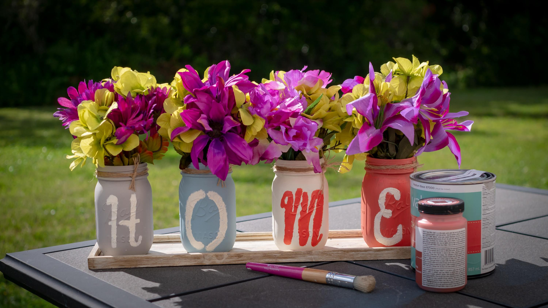 DIY - Vasos com flores