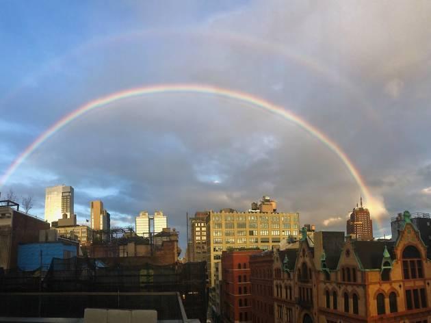 Rainbow over NYC