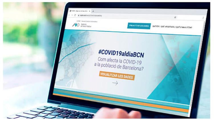 Web de l'Agència de Salut Pública de Barcelona