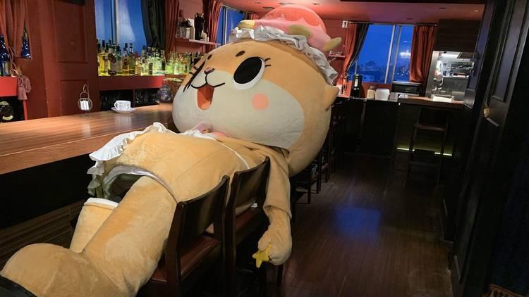 Chiitan mascot, bar