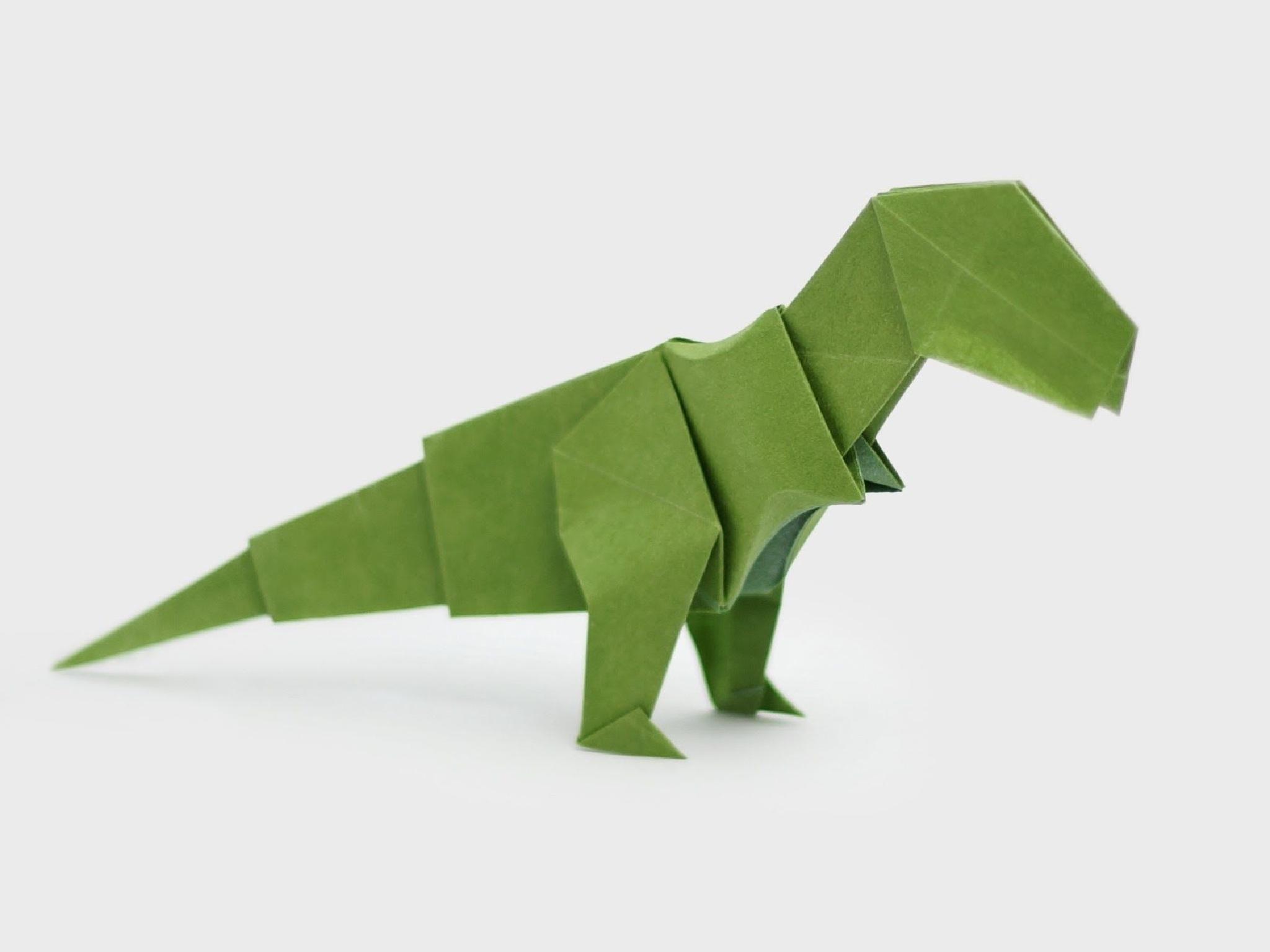 Hobby,  Dobrar Papel, Origami, Dinossauro Verde