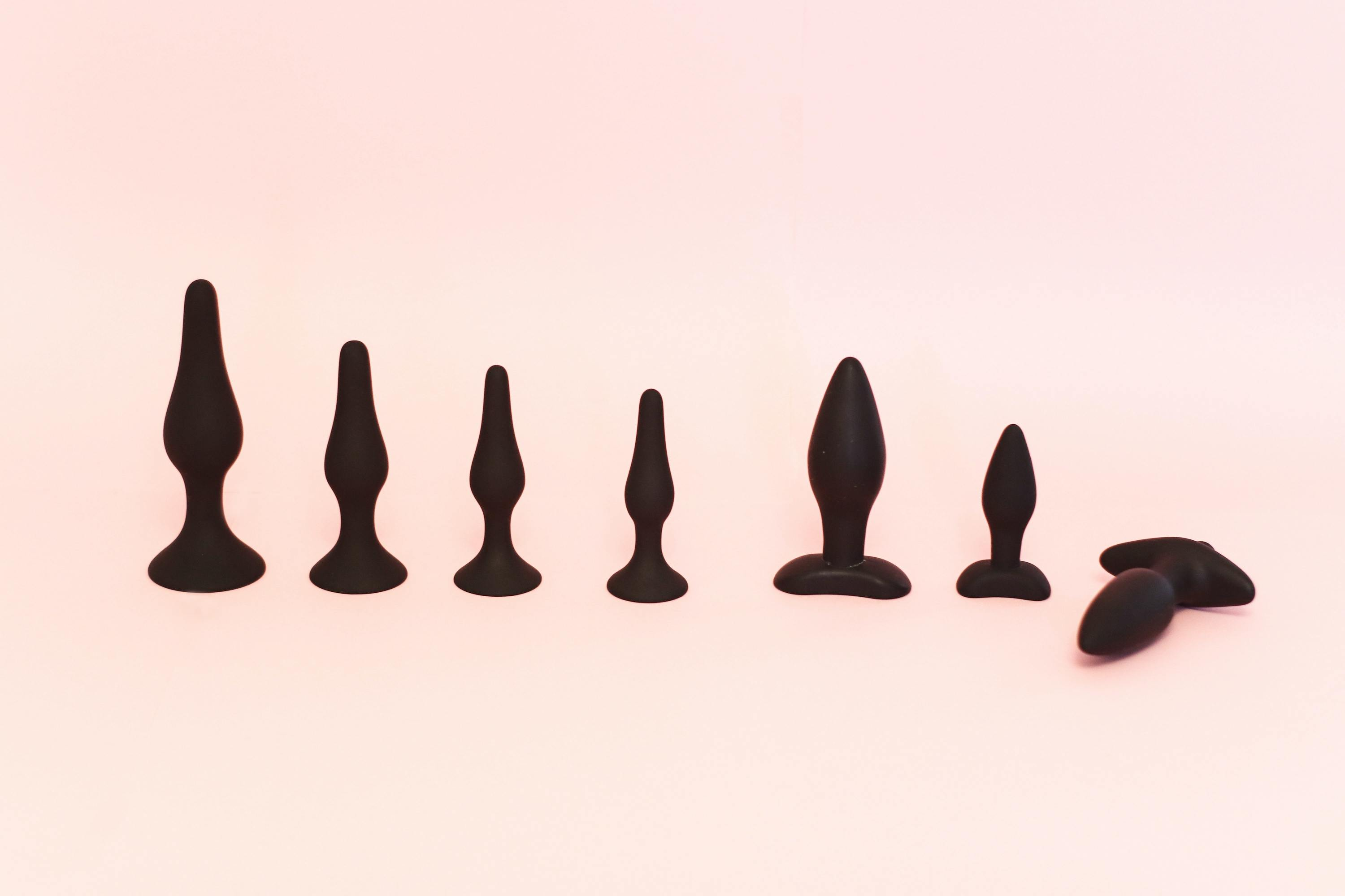 Generic sex toys in a line