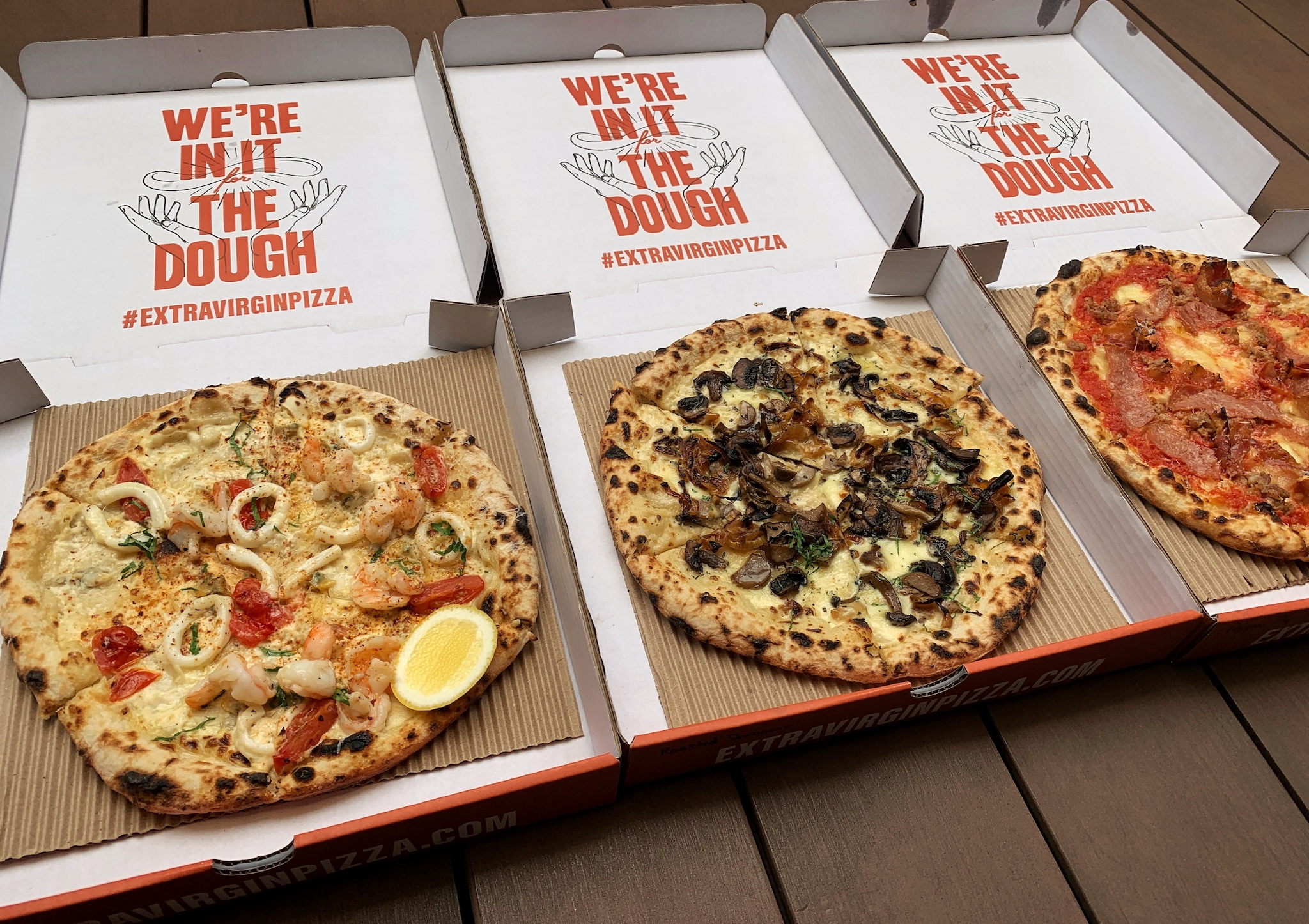 Da bao diaries: gourmet pies from Extra Virgin Pizza