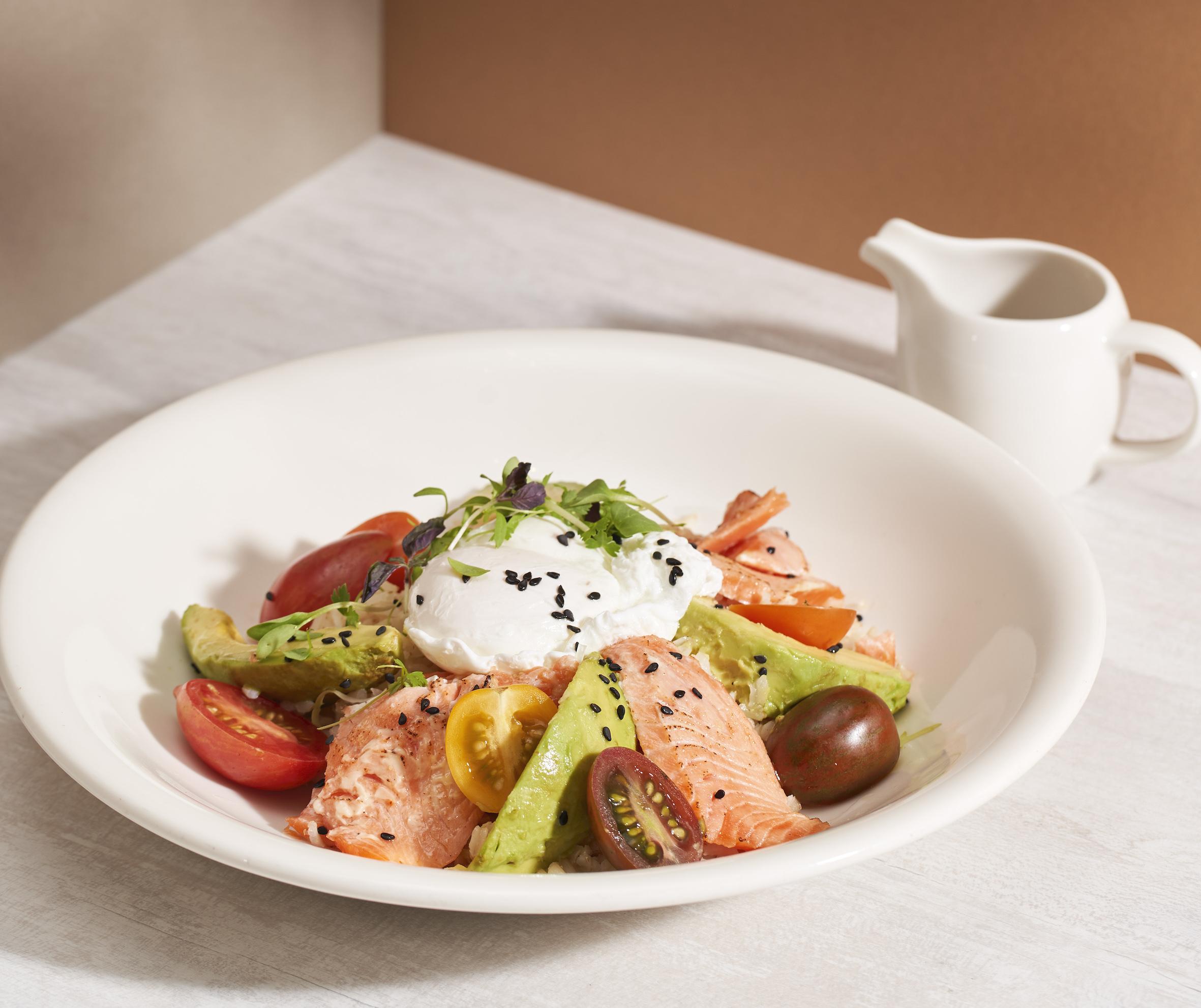 SPRMRKT Aburi salmon grain bowl
