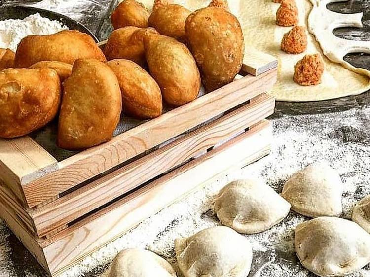 #FondDePlacard20 - Les panzerotti frits et farcis au fromage de Michele Farnesi (Dilia)