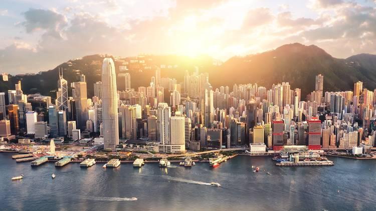 skyscrapers victoria harbour