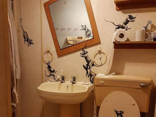 Banksy's new bathroom artwork