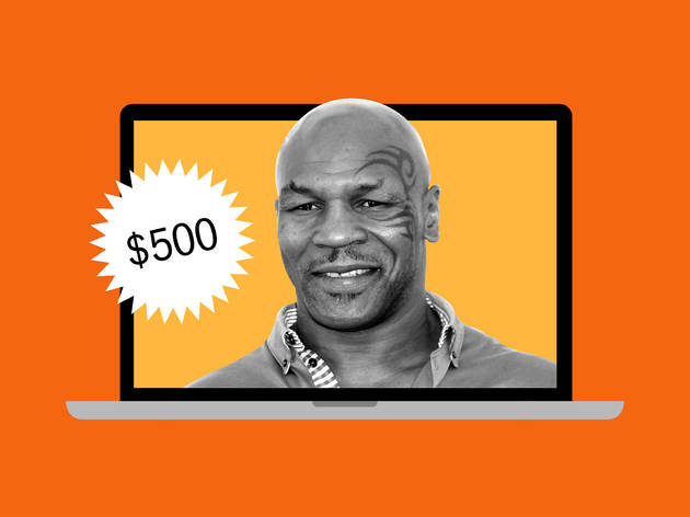Mike Tyson's birthday messages on Cameo