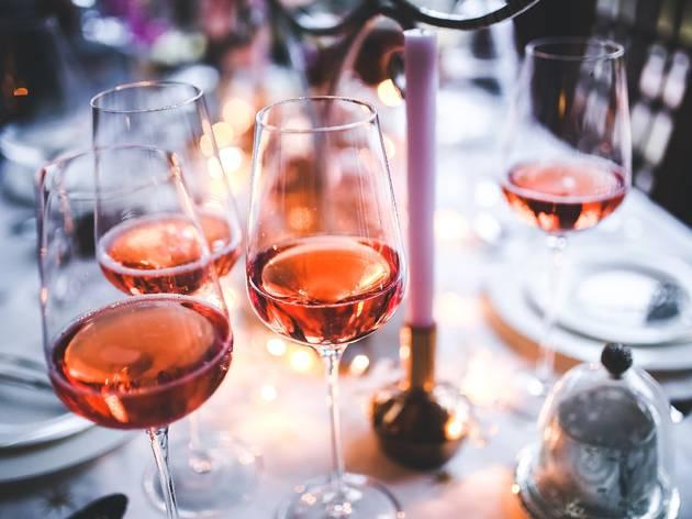 Bebidas, Copos de Vinho, Aperitivo