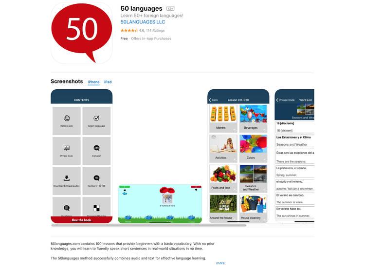 50 Languages:最多語言