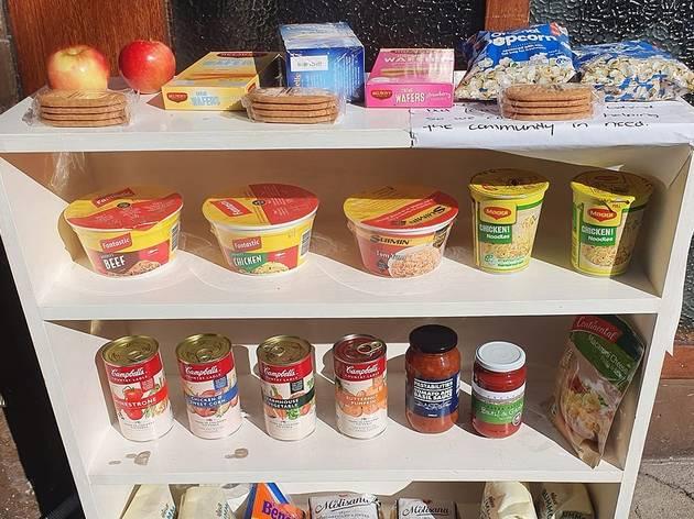 Food on a shelf outside