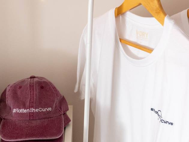 Compras, T-Shirt's, Bonés, Ivory Lisbon, Flatten the Curve