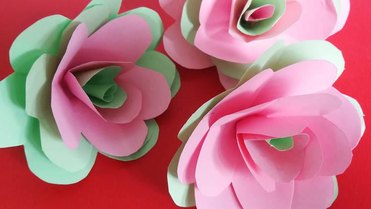 roses de paper