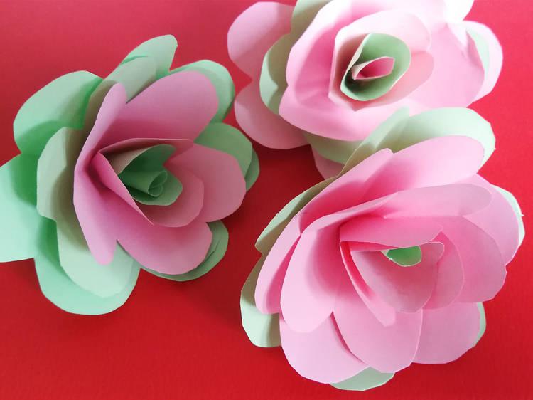 5 ideas para hacer una rosa de Sant Jordi en casa