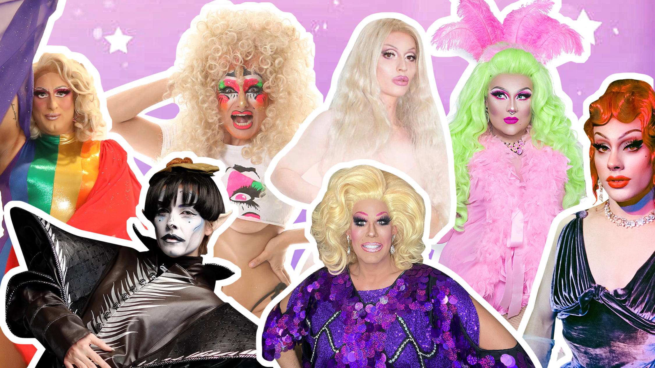 Images of local drag performers collaged together.