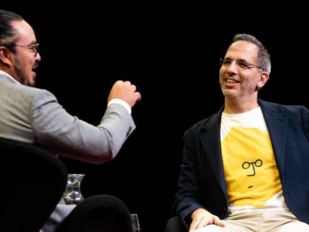 Celebrity chefs Yotam Ottolenghi and Adam Liaw in conversation.