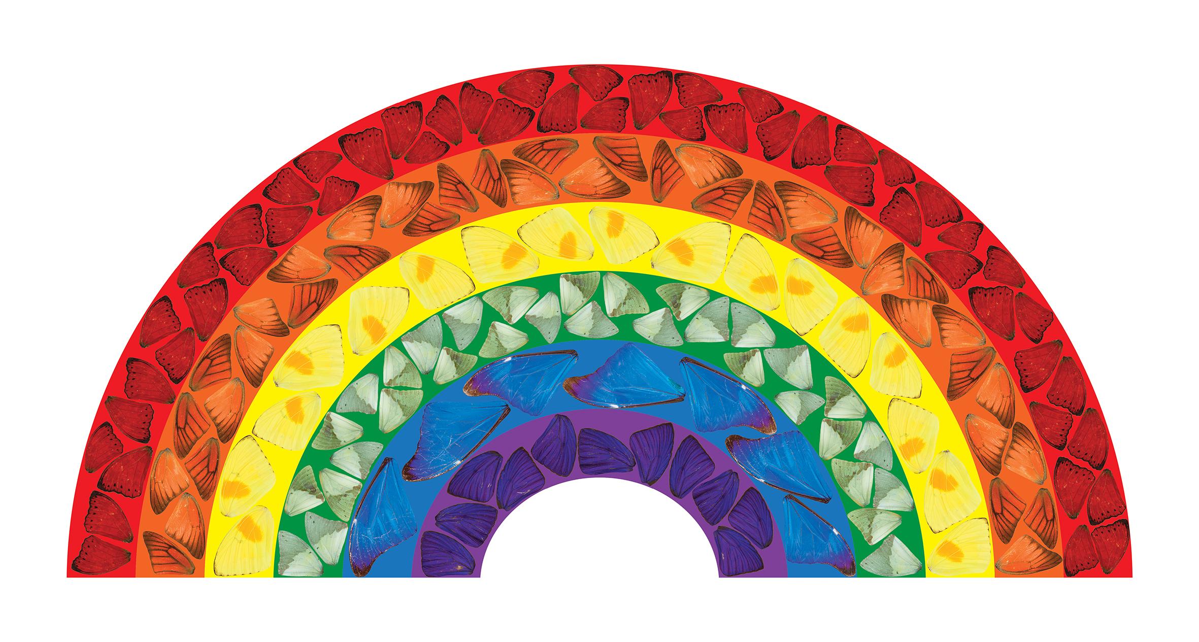 ダミアン・ハーストが医療従事者に敬意を表し、無料DL可能な虹の絵を発表