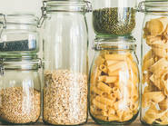 Glass jars for plastic-free, zero-waste food storage