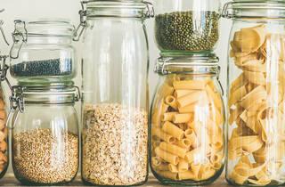 Glass jars for plastic-free, zero-waste food storage