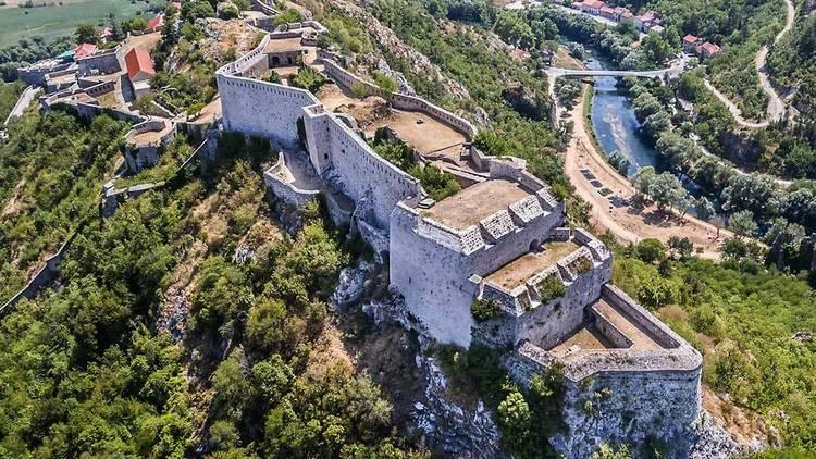 Knin, fortress, krka, river, ancient