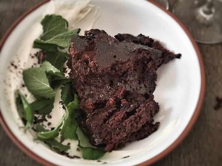 #FondDePlacard24 - Le gâteau au chocolat, crème épicée de Christophe Saintagne (Papillon)